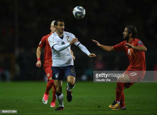Davide Zappacosta of Italy in action during the FIFA 2018 World Cup Qualifier between Italy and FYR Macedonia at Stadio Olimpico on October 6 2017 in...