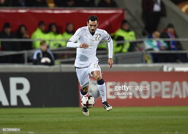 Davide Zappacosta of Italy in action during the FIFA World Cup 2018 group G Qualifiers football match between Liechtenstein and Italy at the...