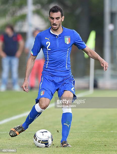 L'AQUILA ITALY JUNE 04 Davide Zappacosta of Italy in action during the international friendly match between Italy U21 and Montenegro U21 on June 4...