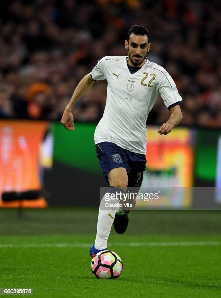 Davide Zappacosta of Italy in action during the international friendly match between Netherlands and Italy at Amsterdam Arena on March 28 2017 in...