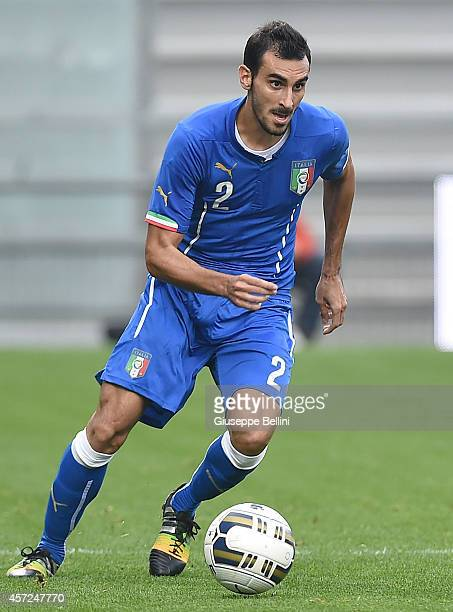 Davide Zappacosta of Italy in action during the UEFA U21 Championship Playoff second leg match between Italy and Slovakia at Mapei Stadium on October...