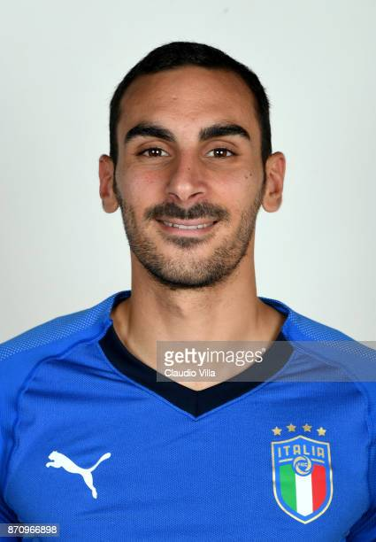 Davide Zappacosta of Italy poses during the official portrait session at Coverciano on November 6 2017 in Florence Italy