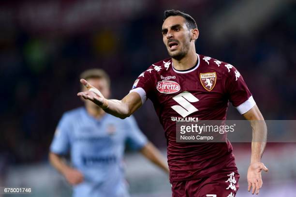 Davide Zappacosta of Torino FC gestures during the Serie A football match between Torino FC and UC Sampdoria Final result is 11