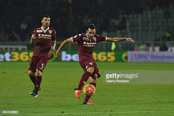 Davide Zappacosta of Torino FC scores a goal during the Serie A match between Torino FC and Genoa CFC at Stadio Olimpico di Torino on October 28 2015...