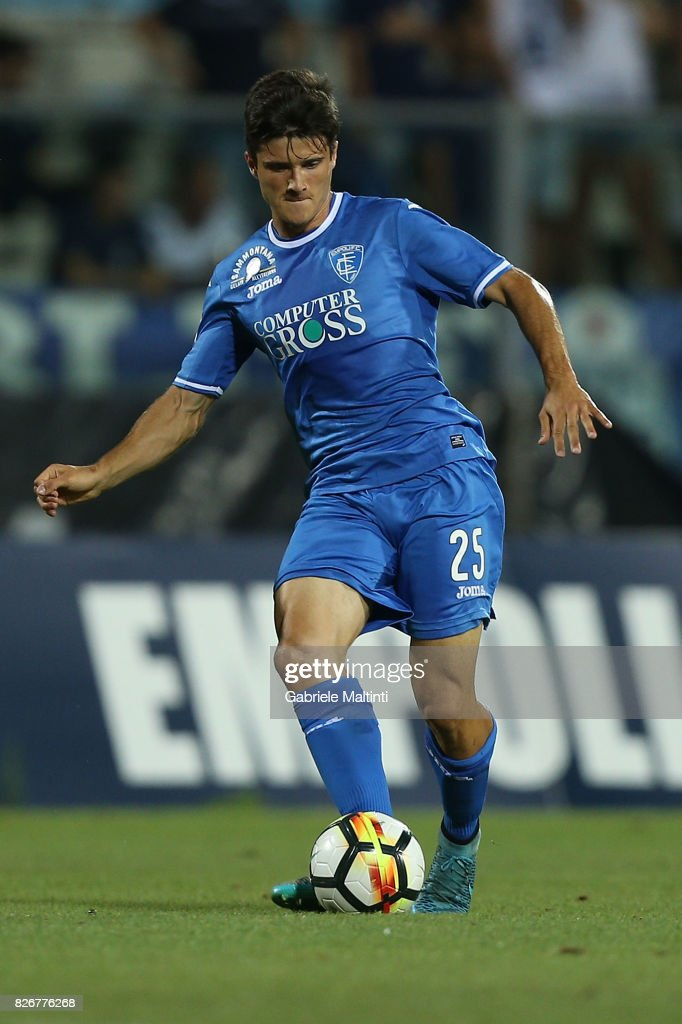 Davide Zappella of Empoli Fc in action during the TIM Cup match between Empoli FC and Renate at Stadio Carlo Castellani on August 5, 2017 in Empoli, Italy.