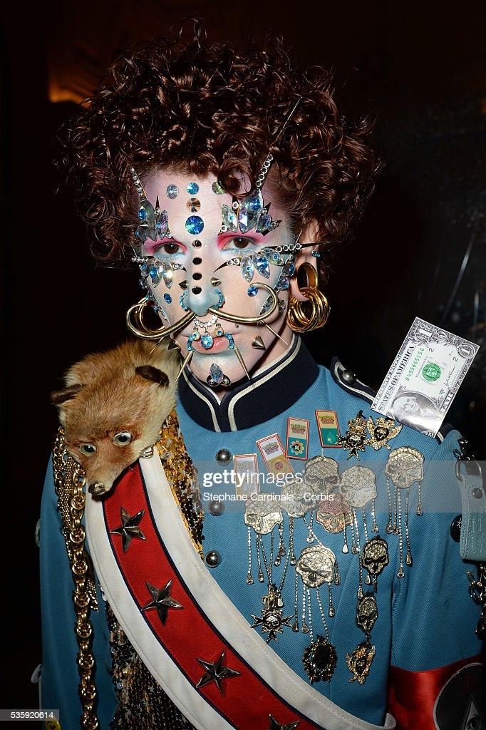 Davide Zingarelli attends the Jean Paul Gaultier show as part of Paris Fashion Week Haute Couture Spring/Summer 2014, in Paris.