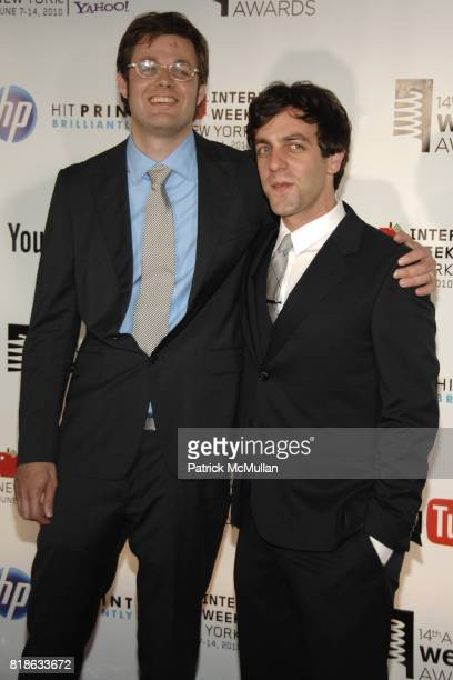 DavidMichel Davies and BJ Novak attend 14th Annual Webby Awards at Cipriani Wall Street on June 14 2010 in New York City