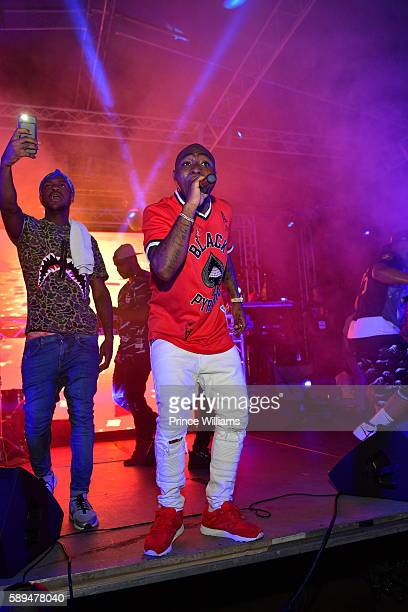 Davido performs at the 2016 Passport Experience at Centennial Olympic Park on August 13 2016 in Atlanta Georgia