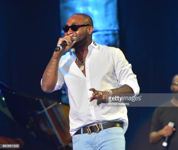 Davido performs at the 2017 Andrew Young International Leadership awards and 85th Birthday tribute at Philips Arena on June 3 2017 in Atlanta Georgia