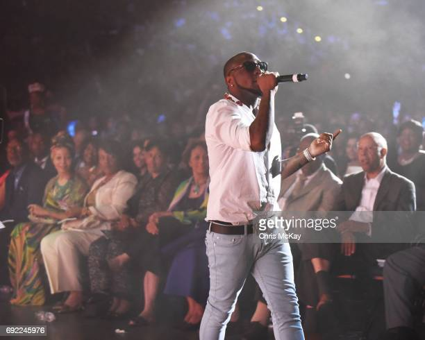 Davido performs during the 2017 Andrew Young International Leadership Awards at Philips Arena on June 3 2017 in Atlanta Georgia