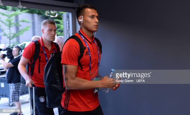 Davie Selke of Germany arrives before the UEFA European Under21 Championship 2017 match against Italy on June 24 2017 in Krakow Poland