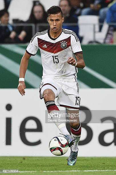Davie Selke of Germany controls the ball during the 2017 UEFA European U21 Championships Qualifier between U21 Germany and U21 Finland at Stadium...