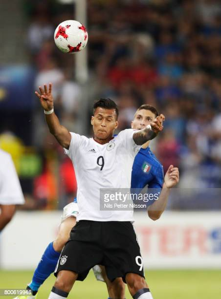 Davie Selke of Germany during the UEFA U21 championship match between Italy and Germany at Krakow Stadium on June 24 2017 in Krakow Poland