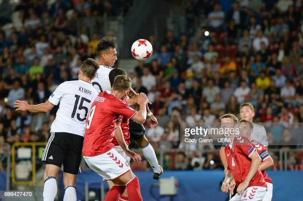 Davie Selke of Germany during their UEFA Under21 Championship Group C match between Germany and Denmark at Krakow Stadium on June 21 2017 in Krakow...