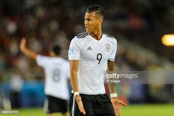 Davie Selke of Germany looks on during the UEFA European Under21 Championship Group C match between Germany and Denmark at Krakow Stadium on June 21...