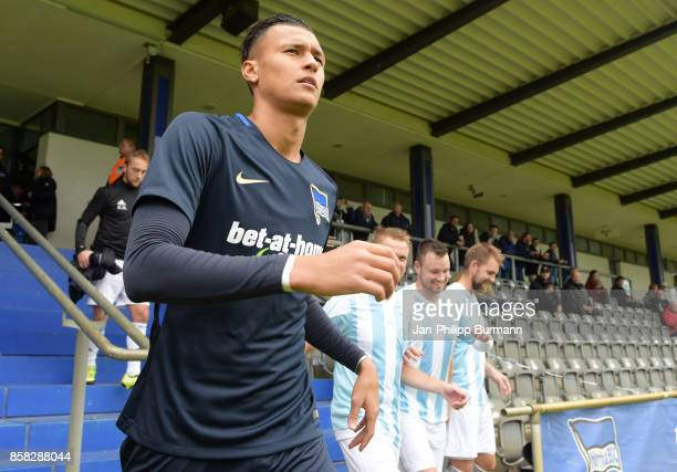 Davie Selke of Hertha BSC before the test match between Hertha BSC and the police epresentative team on october 6 2017 in Berlin Germany