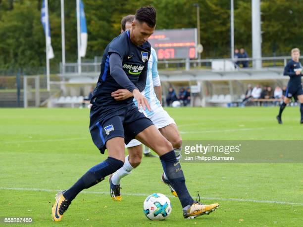 Davie Selke of Hertha BSC during the test match between Hertha BSC and the police epresentative team on october 6 2017 in Berlin Germany