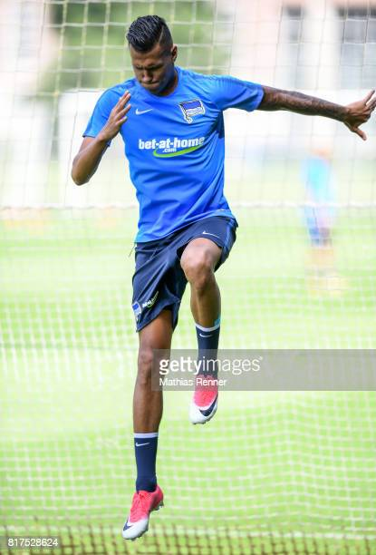 Davie Selke of Hertha BSC during the training on July 18 2017 in Berlin Germany