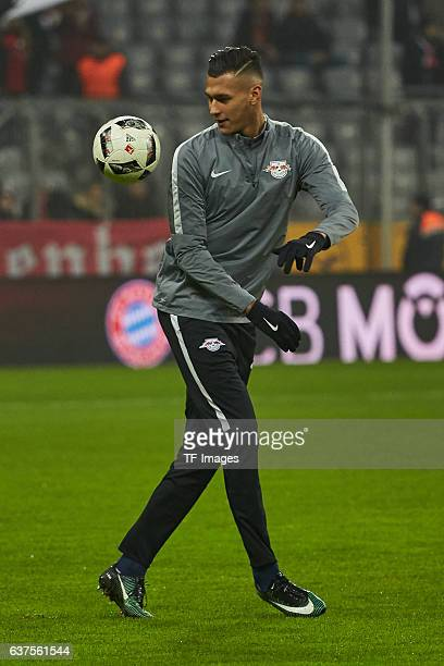 Davie Selke of Leipzig during the Bundesliga match between Bayern Muenchen and RB Leipzig at Allianz Arena on December 21 2016 in Munich Germany