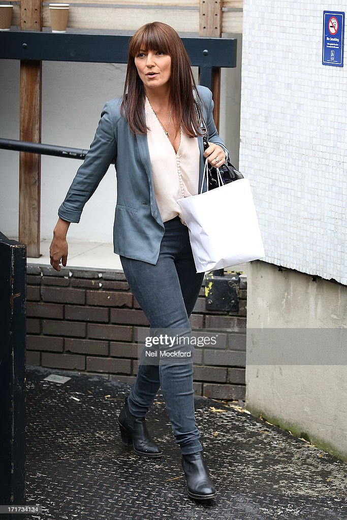 Davina McCall seen leaving the ITV Studios after the last 'Loose Women' of the year show on June 28, 2013 in London, England.