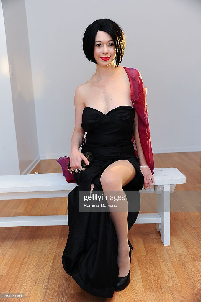 Davina Reichman Schuck attends the Mischka Velasco presentation during Mercedes-Benz Fashion Week Fall 2014 at Top of the Garden on February 10, 2014 in New York City.