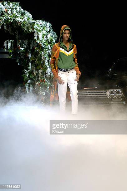 Davina wearing Gwen Stefani for LAMB Spring 2006
