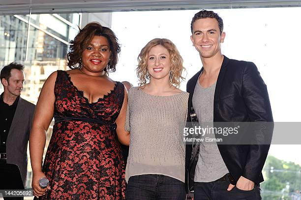 Da'Vine Joy Randolph Caissie Levy and Richard Flesshman attend the 'Ghost The Musical' special performance at the Time Warner Center on May 11 2012...