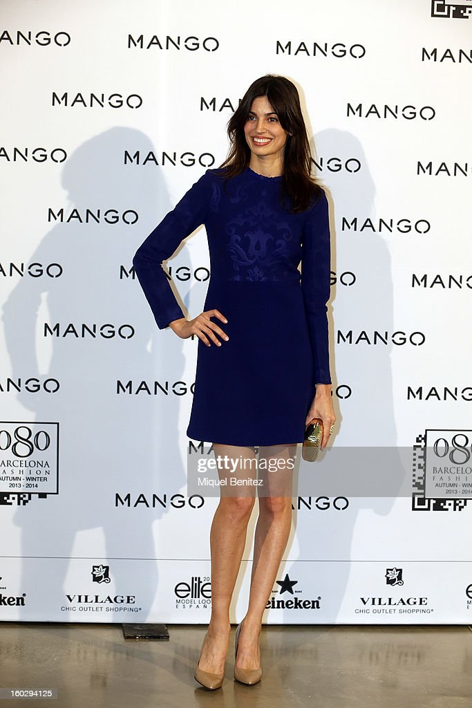 Davinia Pelegri Gonzalez attends the photocall at the Mango fashion show as part of the 080 Barcelona Fashion Week Autumn/Winter 2013-2014 on January 28, 2013 in Barcelona, Spain.