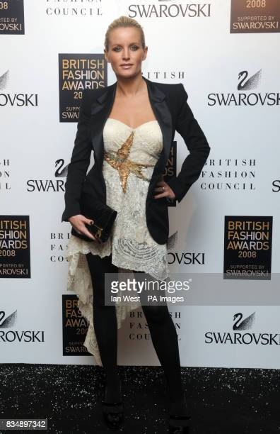Davinia Taylor arrives for the 2008 British Fashion Awards at the Royal Horticultural Hall 80 Vincent Square London