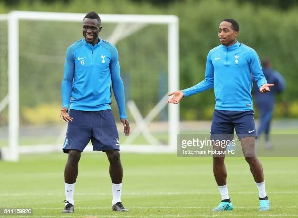 Davinson Sanchez and Kyle WalkerPeters of Tottenham during the Tottenham Hotspur training session at Tottenham Hotspur Training Centre on September 8...