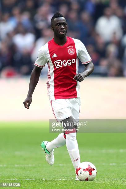 Davinson Sanchez of AFC Ajax in action during the Eredivisie match between AFC Ajax and Feyenoord at Amsterdam Arena on April 2 2017 in Amsterdam...
