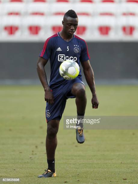 Davinson Sanchez of Ajax during a training session prior to the third round qualifying first leg match between OGC Nice and Ajax Amsterdam on July 25...