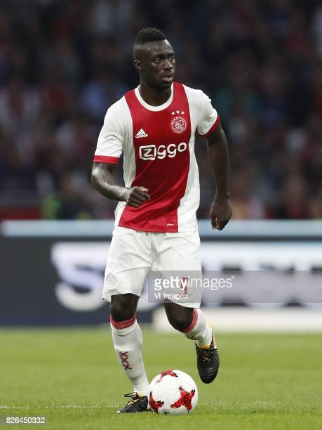 Davinson Sanchez of Ajax during the UEFA Champions League third round qualifying first leg match between Ajax Amsterdam and OGC Nice at the Amsterdam...