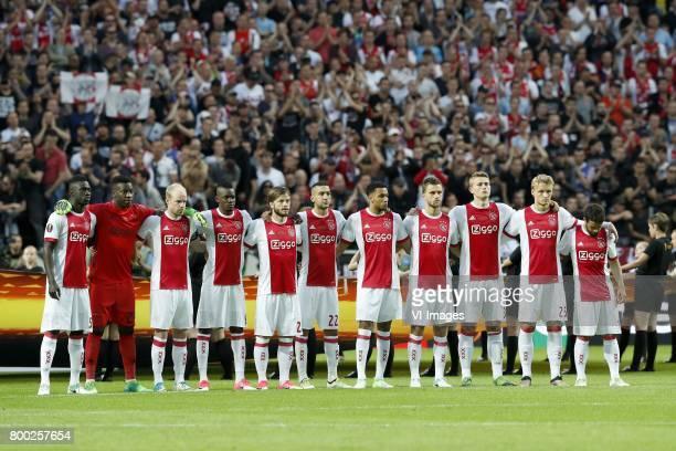 Davinson Sanchez of Ajax goalkeeper Andre Onana of Ajax Davy Klaassen of Ajax Bertrand Traore of Ajax Lasse Schone of Ajax Hakim Ziyech of Ajax Jairo...