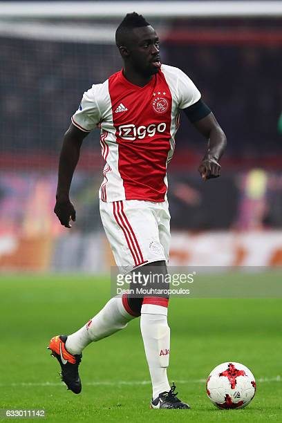 Davinson Sanchez of Ajax in action during the Eredivisie match between Ajax Amsterdam and ADO Den Haag held at Amsterdam Arena on January 29 2017 in...