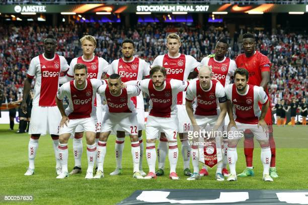 Davinson Sanchez of Ajax Kasper Dolberg of Ajax Jairo Riedewald of Ajax Matthijs de Ligt of Ajax Bertrand Traore of Ajax goalkeeper Andre Onana of...