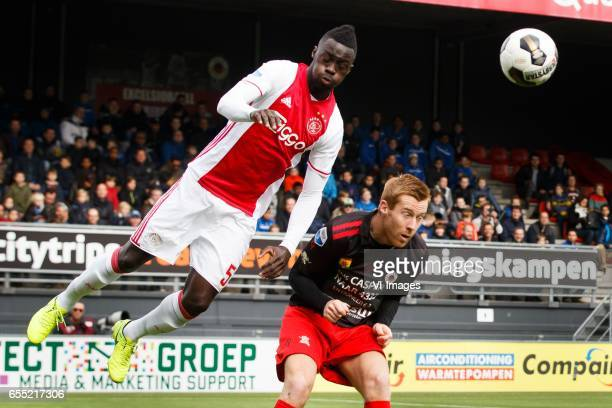 Davinson Sanchez of Ajax Mike van Duinen of Excelsiorduring the Dutch Eredivisie match between sbv Excelsior Rotterdam and Ajax Amsterdam at...