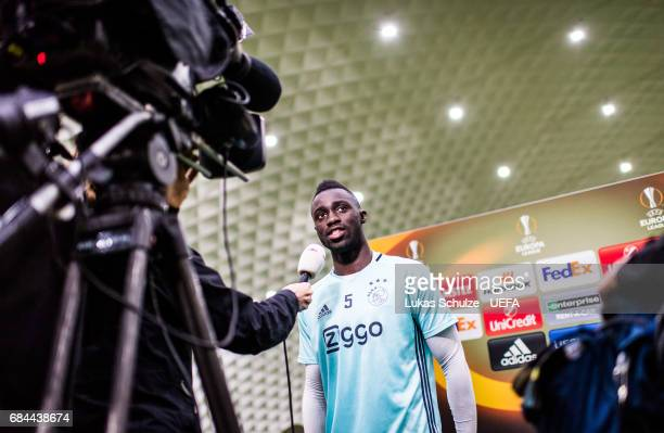 Davinson Sanchez of Ajax speaks to the media during the Ajax Media Day on May 18 2017 in Amsterdam Netherlands