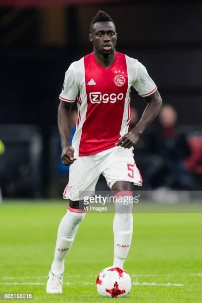 Davinson Sanchez of Ajaxduring the Dutch Eredivisie match between Ajax Amsterdam and AZ Alkmaar at the Amsterdam Arena on April 05 2017 in Amsterdam...