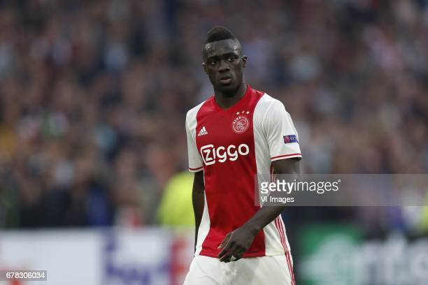 Davinson Sanchez of Ajaxduring the UEFA Europa League semi final match between Ajax Amsterdam and Olympique Lyonnais at the Amsterdam Arena on May 03...