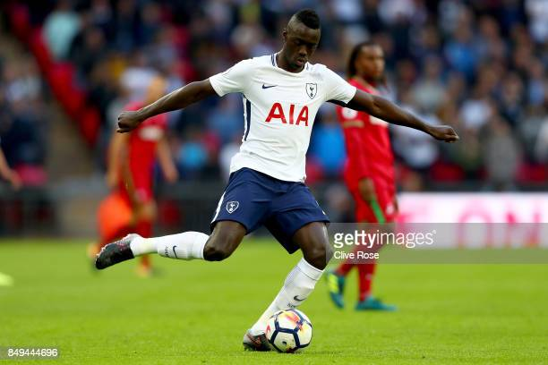 Davinson Sanchez of Tottenham Hotspur during the Premier League match between Tottenham Hotspur and Swansea City at Wembley Stadium on September 16...