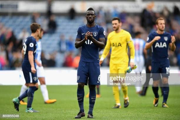 Davinson Sanchez of Tottenham Hotspur shows appreciation to the fans after the Premier League match between Huddersfield Town and Tottenham Hotspur...