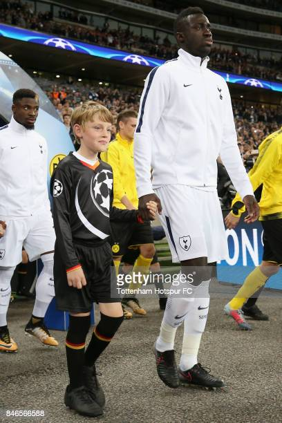 Davinson Sanchez of Tottenham Hotspur walks out prior to the UEFA Champions League group H match between Tottenham Hotspur and Borussia Dortmund at...