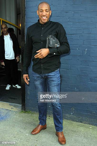 Davion Dublin seen arriving at a Studio to record the official England 2014 FIFA World Cup song for Sport Relief on March 5 2014 in London England