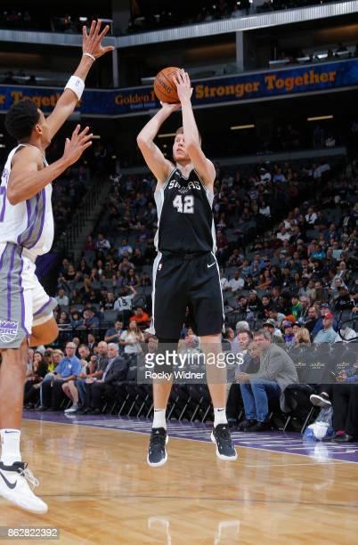 Davis Bertans of the San Antonio Spurs shoots against the Sacramento Kings on October 2 2017 at Golden 1 Center in Sacramento California NOTE TO USER...