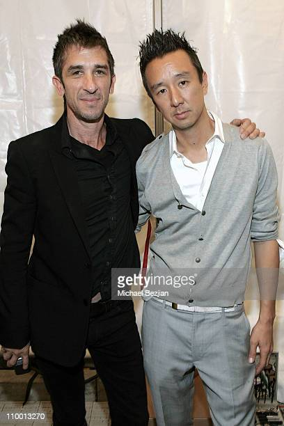 Davis Factor and designer Eric Kim at the Monarchy Collection Spring 2008 Fashion Show during the Mercedes Benz fashion week at Smashbox Studios on...