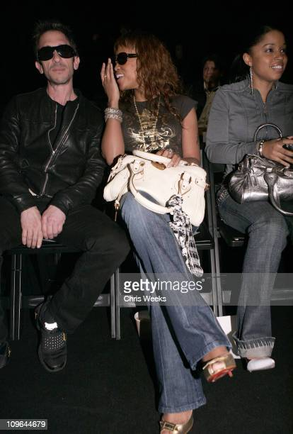 Davis Factor and Eve during MercedesBenz Fall 2006 LA Fashion Week at Smashbox Studios Taverniti So Jeans Backstage and Front Row at Smashbox Studios...