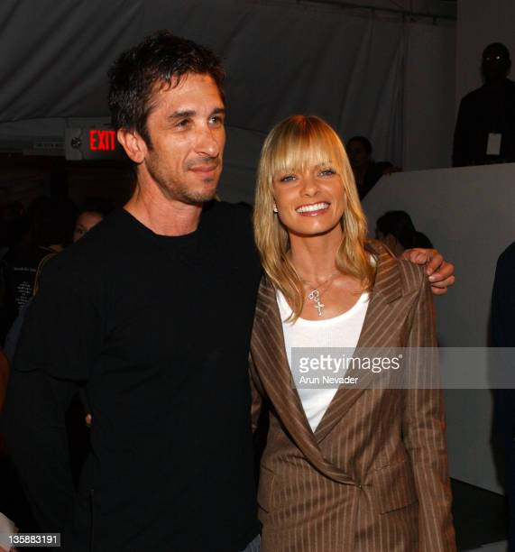 Davis Factor and Jaime Pressly during MercedesBenz Fashion Week Fall 2004 at Smashbox Studios Tyler Frontrow at Smashbox Studio in Culver City...