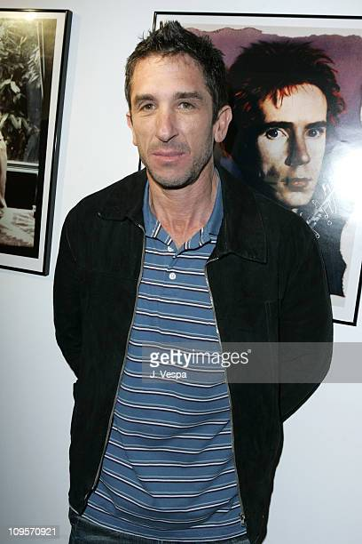Davis Factor during DKNY Jeans Presents 'Mick Rock Live in LA' Exhibit at the LoFi Gallery at LoFi in Los Angeles California United States