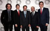 Davis Guggenheim Ricky Strauss honoree Jeff Skoll Scott Burns and Jim Berk attend the 2011 Los Angeles Gala honoring Participant Media and founder...